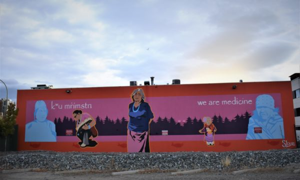 Giant mural depicts resilience of Indigenous women in B.C. artist's life